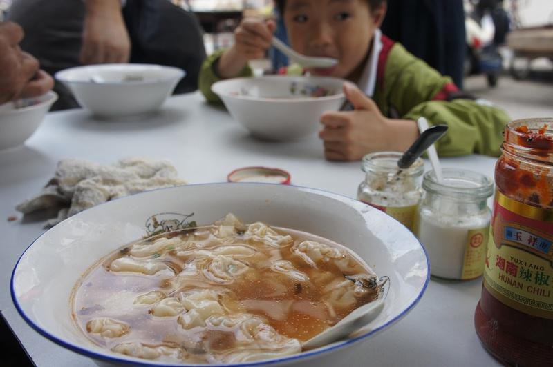 tasty traditional wonton soup in hongkou shanghai
