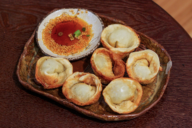 Vegan gyoza at Chabuzen, photo by Phoebe Amoroso