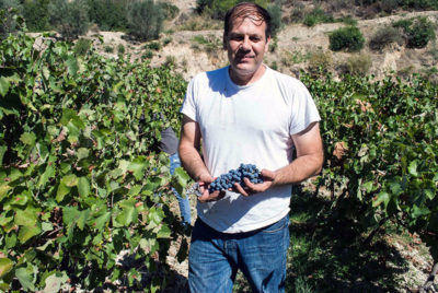John Papargyriou in his vineyard. Photo by Angelos Damoulianos