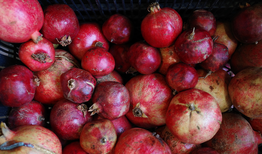 Freshly Squeezed Pomegranate Juice In Athens Culinary
