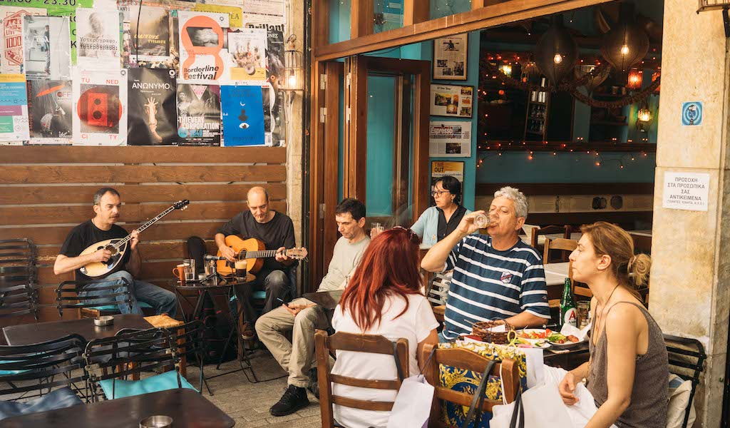 a funky restaurant with live rebetika music in central athens culinary backstreets