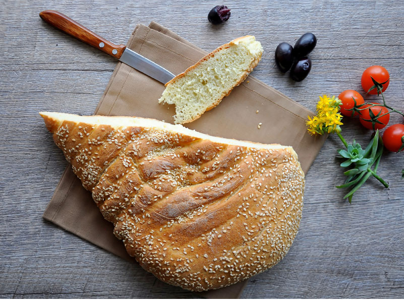 Lagana bread, photo by Lucia Pescaru/Shutterstock.com