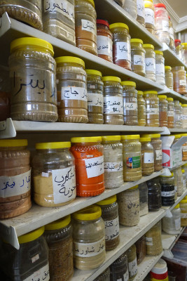 Syrian spices at Al Ahdab, photo by Ansel Mullins
