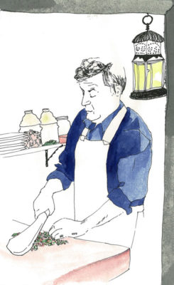 Rejon Kilis Kebab, illustration by Olga Alexopoulou