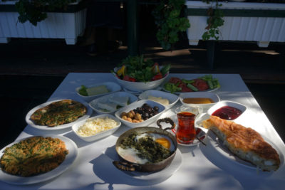 Black Sea specialties at Trabzon Kültür Derneği, photo by Monica Fritz