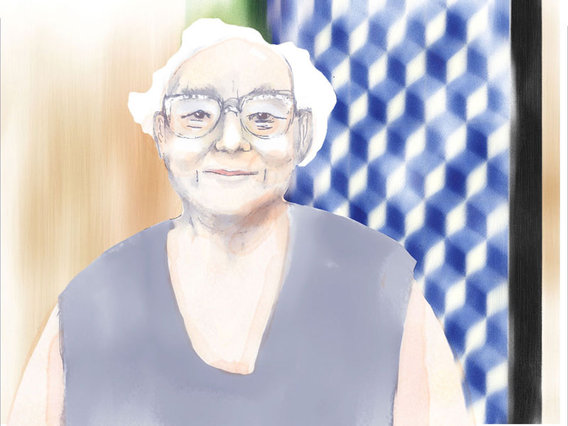 Deolinda Peres, a varina in Lisbon, illustration by Lucy Pepper