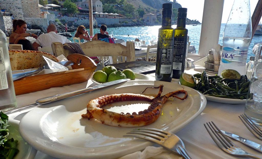 A Seafood Taverna On The Messinian Coast Of Mani