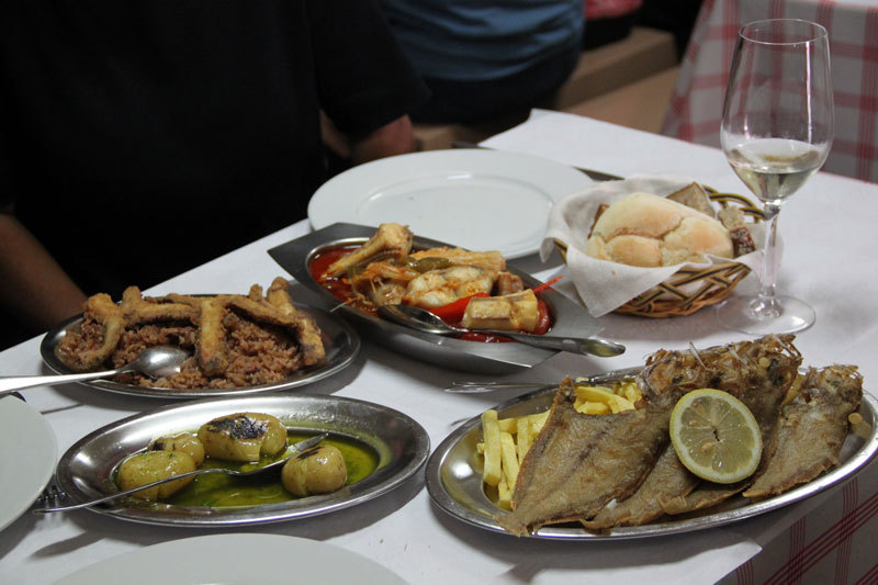 Seafood at Salta Ó Muro, photo by Francesca Savoldi