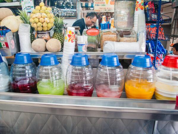 Aguas frescas in Mexico City, photo by Ben Herrera