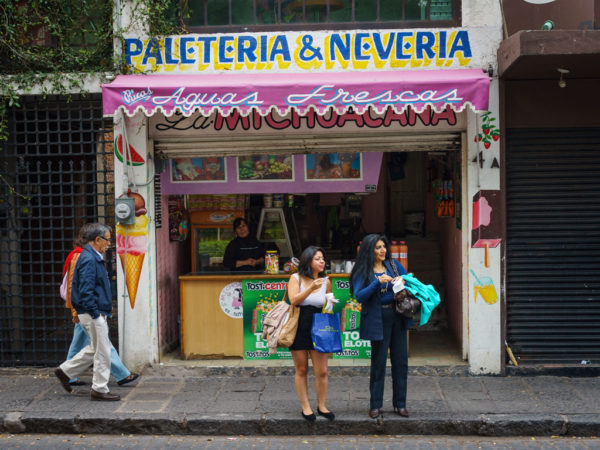 One of Mexico City's many La Michoacana shops, photo by PJ Rountree