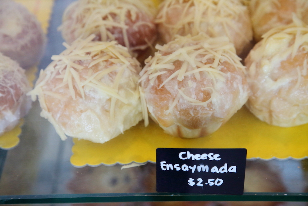 Cheese ensaymadas at Kape't Torta, a Filipino bakery in Queens