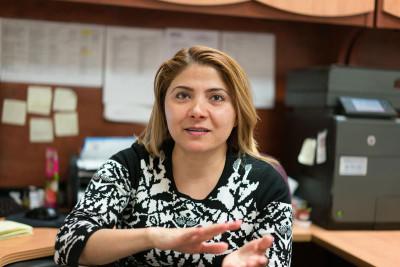 Polina Kavod of the Bukharan Jewish Center and Congress, photo by Sarah Khan