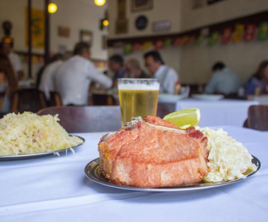 Bar Brasil's kassler and sauerkraut, photo by Vinicius Camiza
