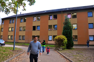 Ahmed at the dorm in Birkenfeld, Germany, photo by Lauren Bohn