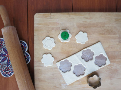 Pastry cutouts for warbat bil ishta, photo by Dalia Mortada