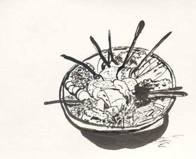 Gobi at Shavi Lomi, illustration by Andrew North