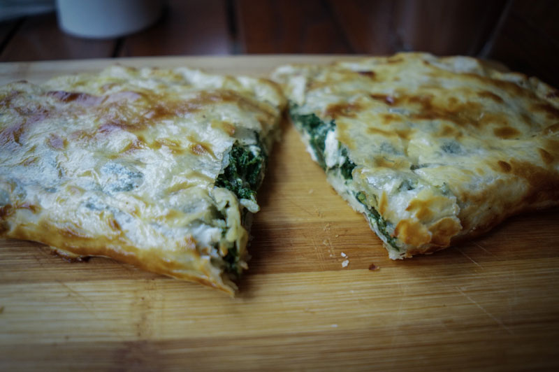 Rhea's Squirrel's spinach khachapuri, photo by Paul RImple