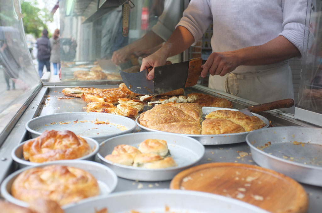 Bougatsa at Bantis, photo by Carolina Doriti