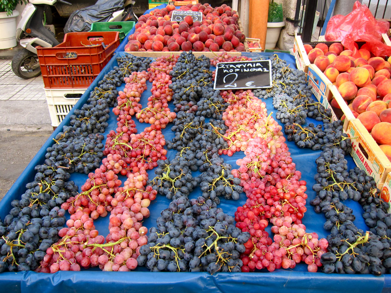 Greek grapes, photo by Heather Hammel
